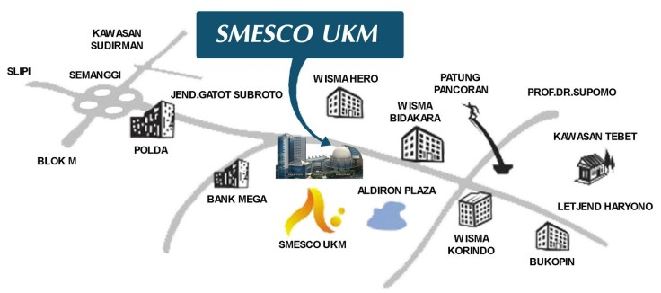 Peta Gedung SMESCO UKM (SME Tower)