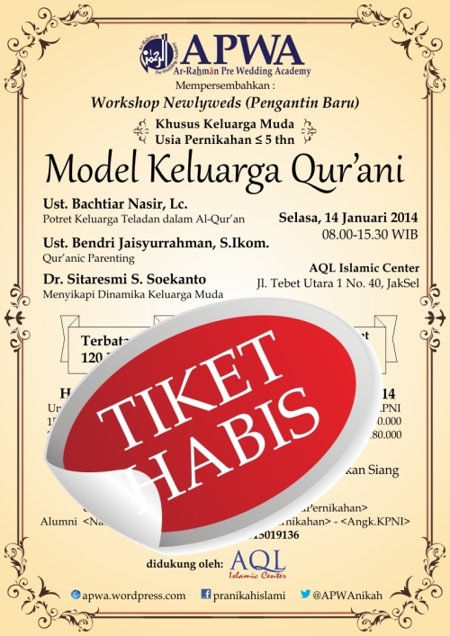 Poster Workshop Newlyweds- Tiket Habis