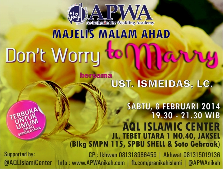 Dont Worry To Marry